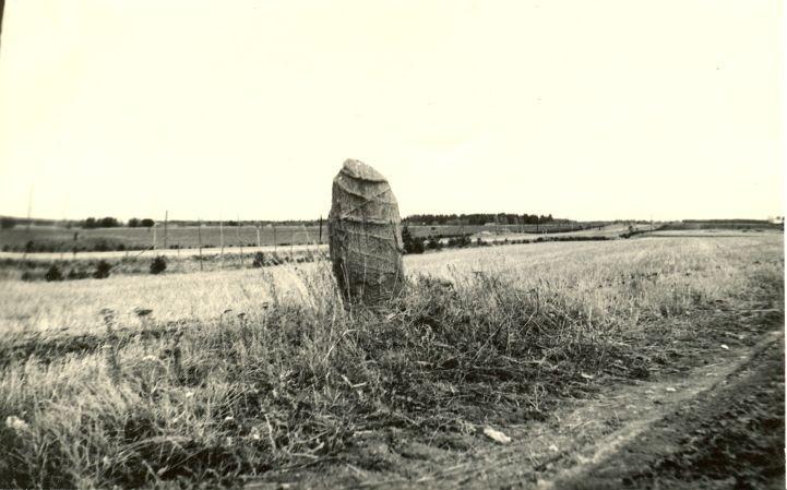 Kultusekivi. Foto: H. Joonuks, 1971.