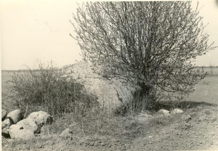 """Kultusekivi """"Liukivi"""" - läänest. Foto: H. Joonuks, 197.."""