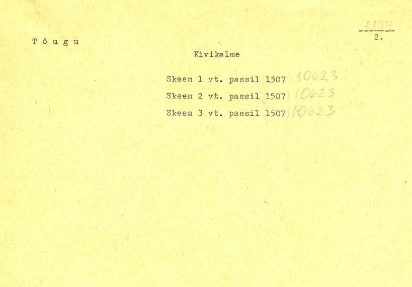 "Pass - 2 (Passi tekstiosa asub alapeatükis ""Kirjeldused"" alapealkirjaga ""Mälestise pass"")"