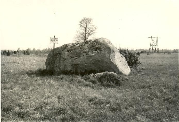 Kultusekivi - lõunast. Foto: H. Joonuks, 1980.