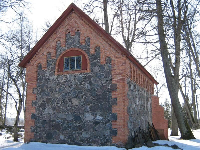Kõpu kalmistu kabel, vaade läänest Foto 08.03.2012 Anne Kivi