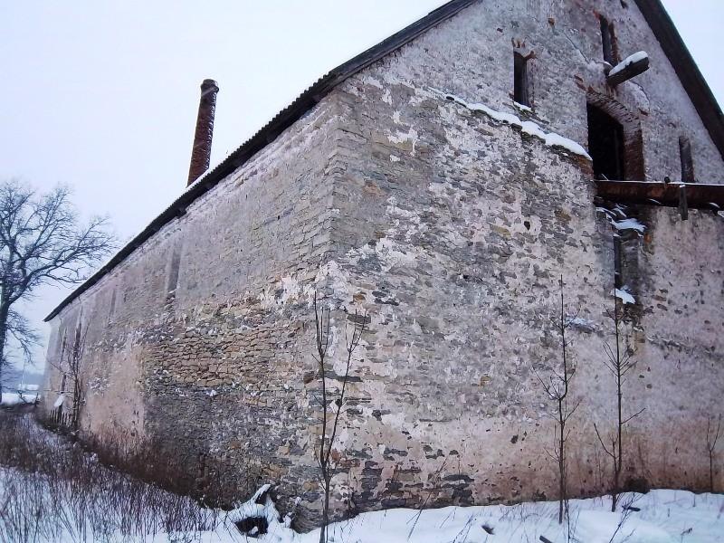 Vana-Vigala viinavabriku vaade lõunast. K. Klandorf 24.01.2012