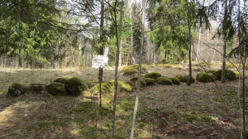 """Vaade mälestisele """"Jaagupi kivistik"""" edelast. Foto: Karin Vimberg, 19.04.2012."""