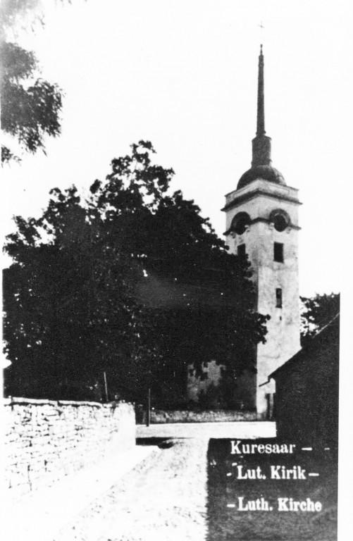 Laurentiuse kirik XX saj. alguses, vaade Kiriku tänavalt.  Foto: Linnavalitsuse arhiiv, 20.saj. algus.