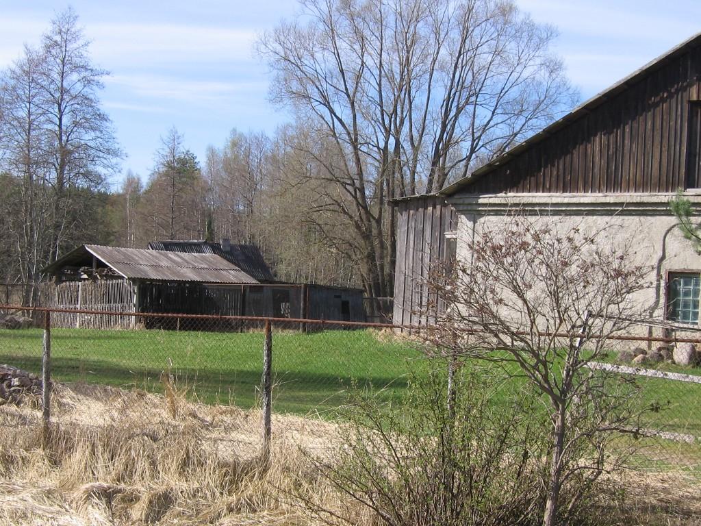Vaade kalmistule Lutsu jõe kaldal kauksi asulas. Foto: Viktor Lõhmus, 02.05.2012.