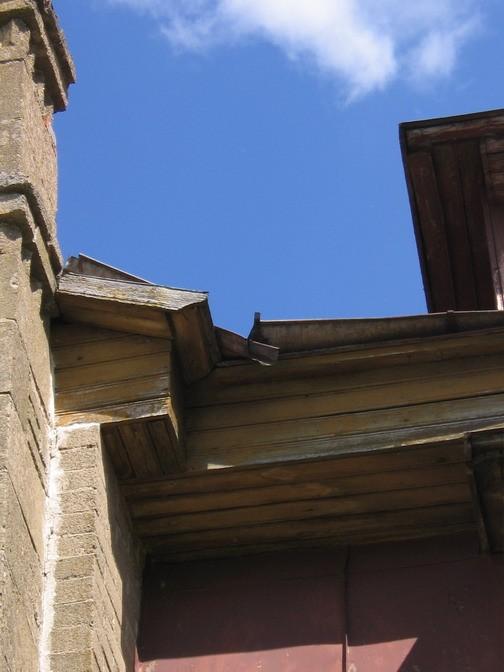 laekvere meierei räästas, 15703, vaade alt lõunafassaadile  Autor Anne Kaldam  Kuupäev  11.06.2007