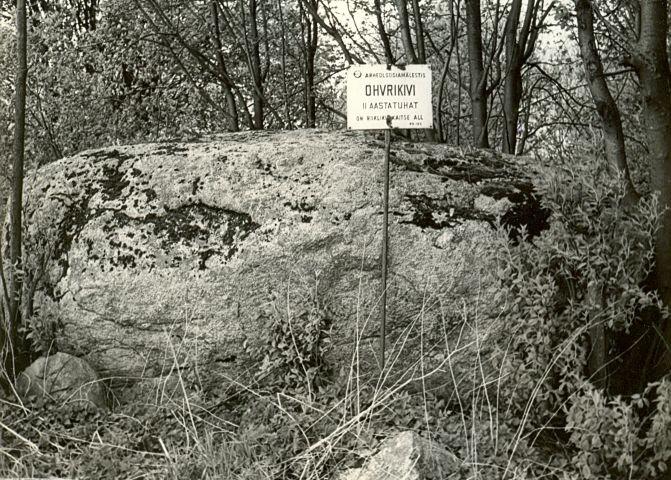 Ohvrikivi - lõunast, E. Väljal, 27.apr.1989