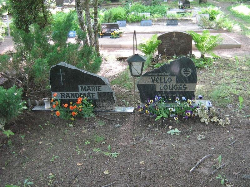 Arheoloog Vello Lõugase matmispaik. Foto: Anne Kivi, 13.06.2012.