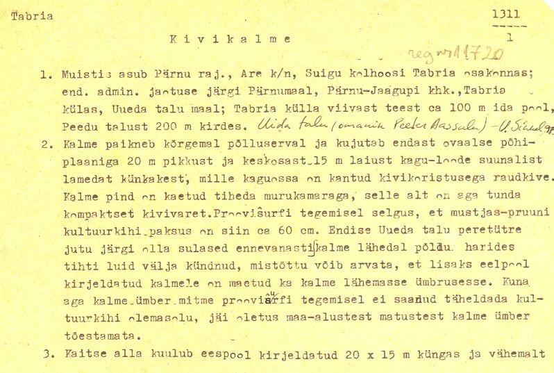 pass 1  Autorid T. Tamla ja Ü. Tamla  Kuupäev 01.05.1976.