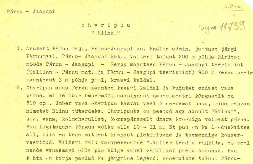 pass 1  Autorid T. Tamla ja Ü. Tamla  Kuupäev 01.05.1976