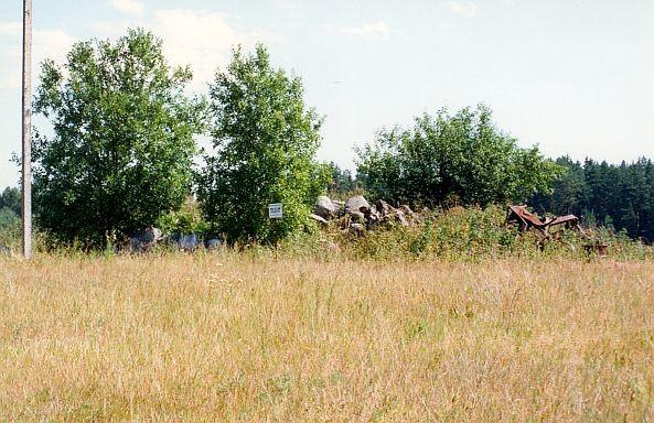 Kalmistu - läänest. Foto: E. Russow, 02.08.1999.