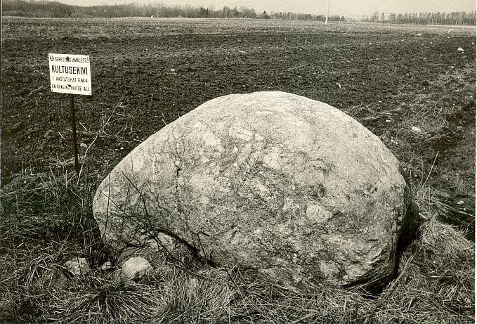 Kultusekivi - lõunast, E. Väljal, 24.okt.1987