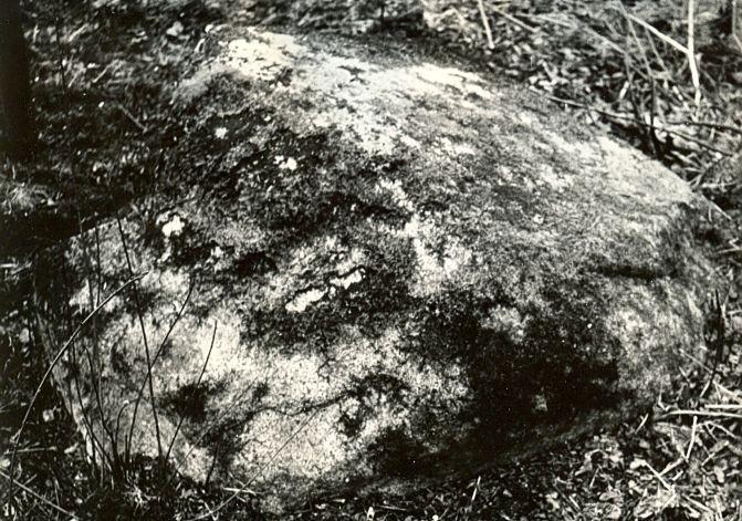 Kultusekivi - läänest, E. Väljal, 1980ndad