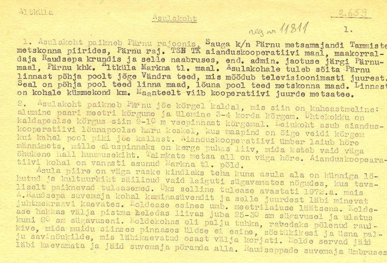 pass 1  Autor V. Lõugas  Kuupäev 01.06.1972.