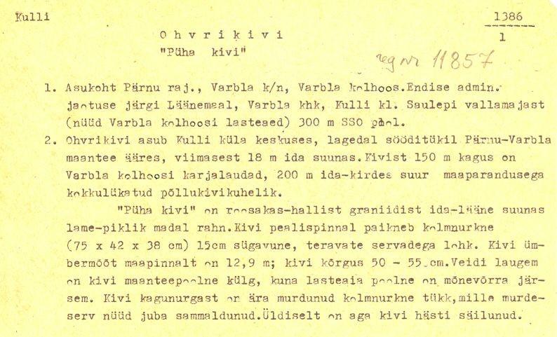 pass 1  Autorid T. Tamla ja Ü. Tamla  Kuupäev 30.05.1976.