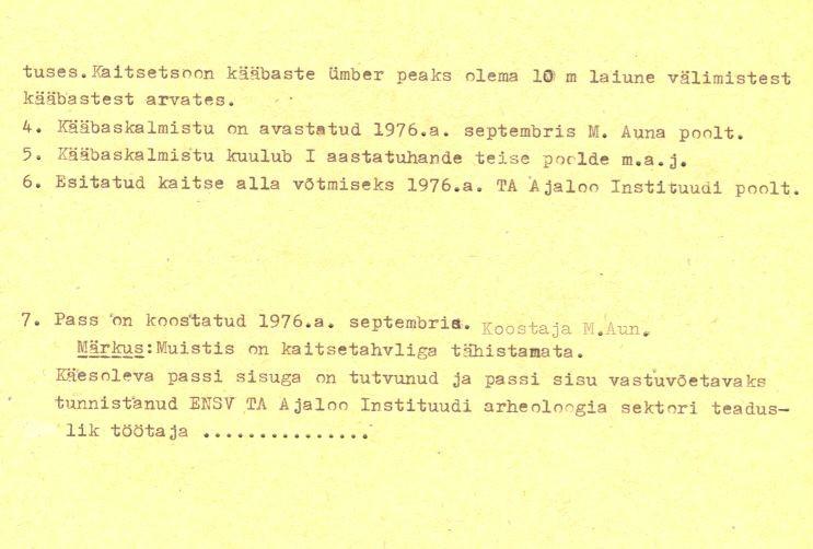 pass - 4-p (Täielik pass on mälestis nr 11149 juures.)