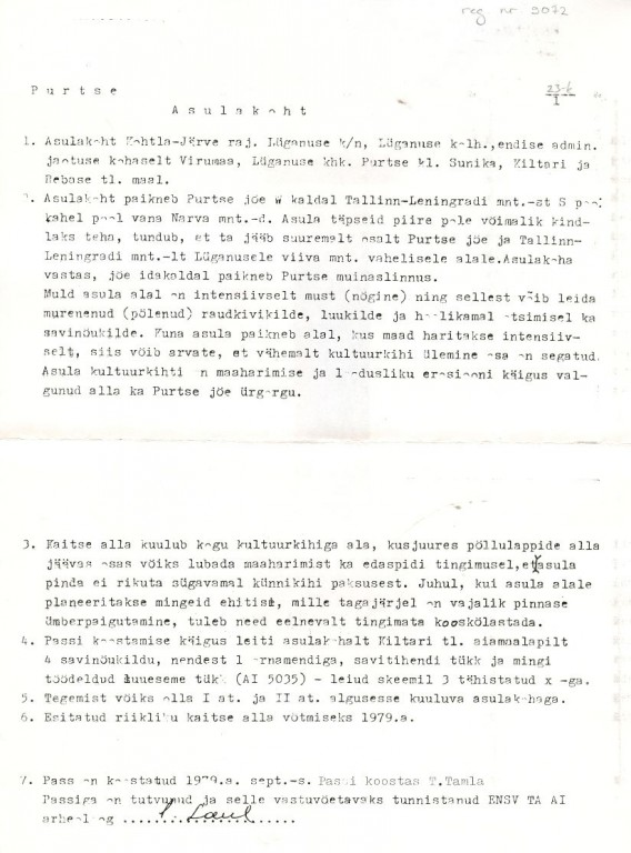 Pass 1  Autor T. Tamla  Kuupäev 01.09.1979