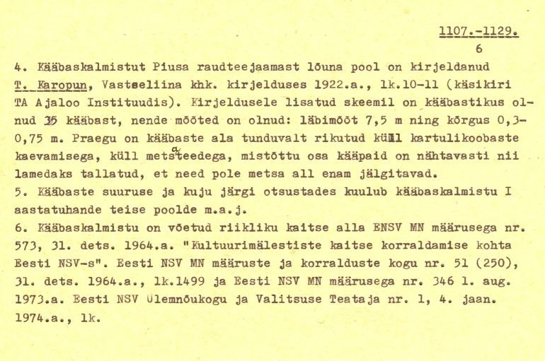 Pass – 6 (Täielik pass on mälestis nr 11321 juures.)