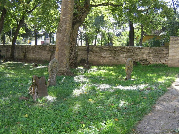 Viru-Nigula kirikuaed, reg nr 5809. Vaade kirikuaia lõunapoolsele osale. Foto: Anne Kaldam, 11.09.2007.