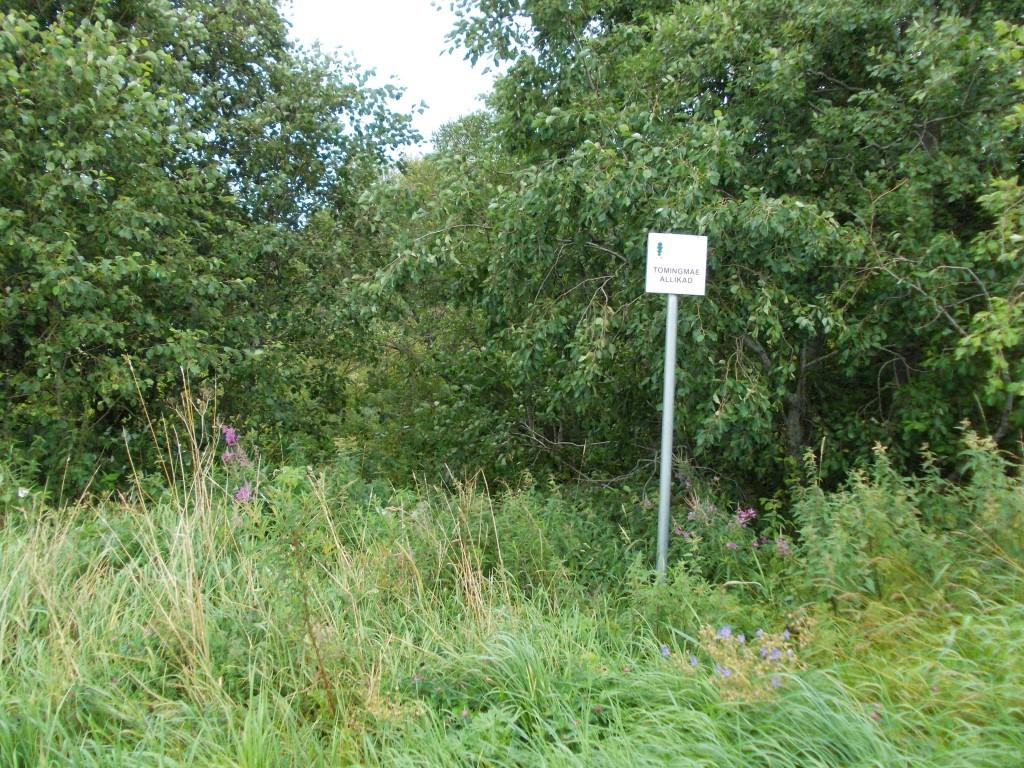 Vaade allika looduskaitse tähisele edelast. Foto: Ulla Kadakas, 07.08.2012.