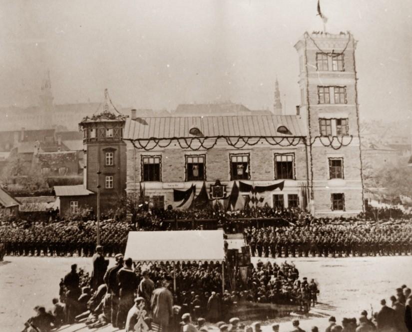 Vene kabeli nurgakivi tseremoonia 14. nov. 1888
