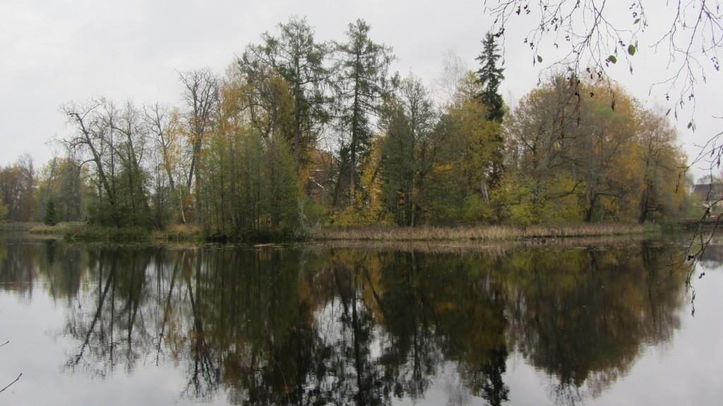 Vaade Antsla vasalllinnuse asukohale läänest. Foto: Karin Vimberg, 16.10.2012.
