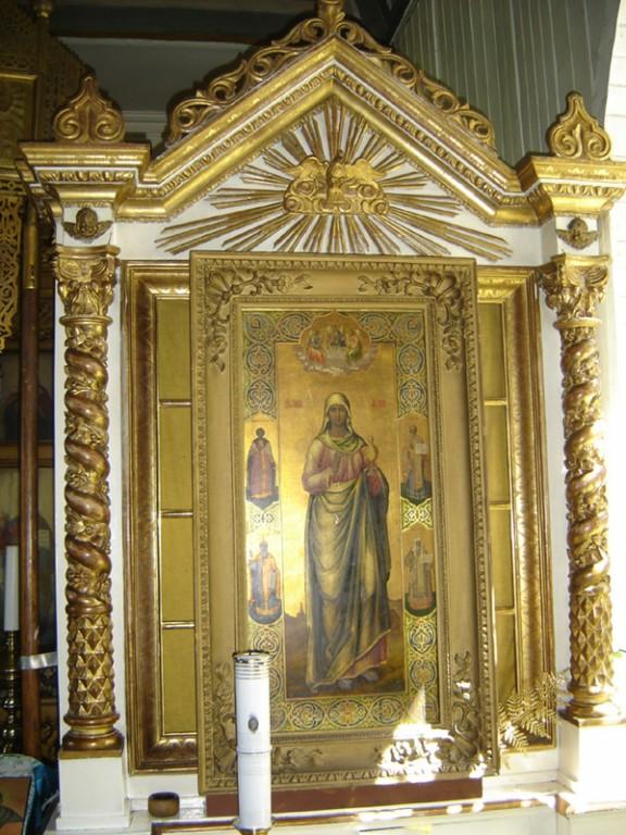 Ikooni kappraamistus. 19. saj. lõpp või 20. saj. algus (puit, kullatud). Foto: S.Simson 13.06.2006