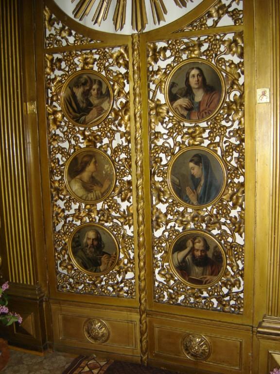 Ikonostaasi kuninglikud väravad. 19. saj. (õli, puit, kullatis). Foto: S.Simson 13.06.2006