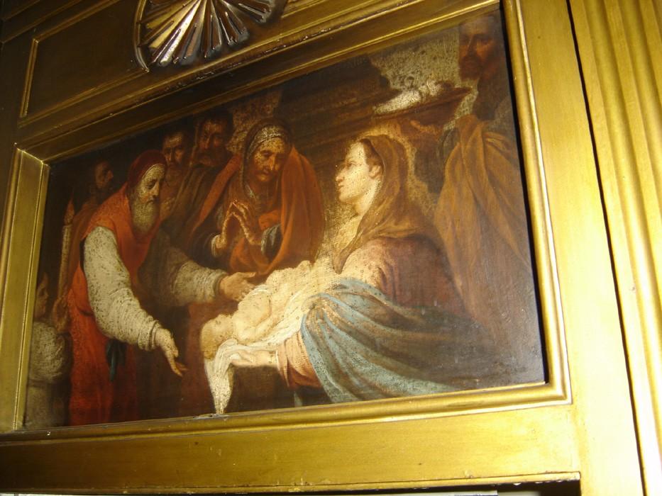 """Ikoon """"Kristuse templisse toomine"""" ikonostaasil. 19. saj. (õli, lõuend). Foto: S.Simson 13.06.2006"""