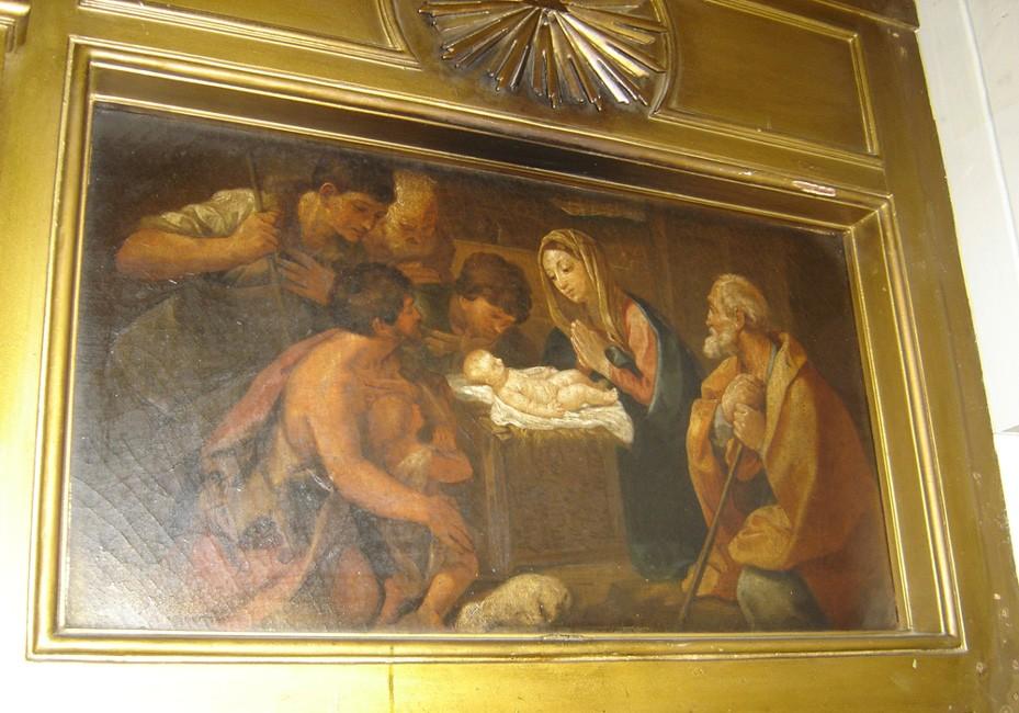 """Ikoon """"Kristuse sündimine"""" ikonostaasil. 19. saj. (õli, lõuend). Foto: S.Simson 13.06.2006"""
