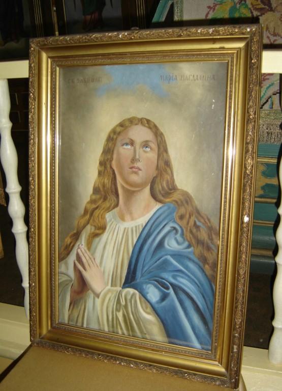 """Ikoon """"Maria Magdaleena"""". 19. saj. lõpp või 20. saj. algus (õli, lõuend). Foto: S.Simson 14.06.2006"""