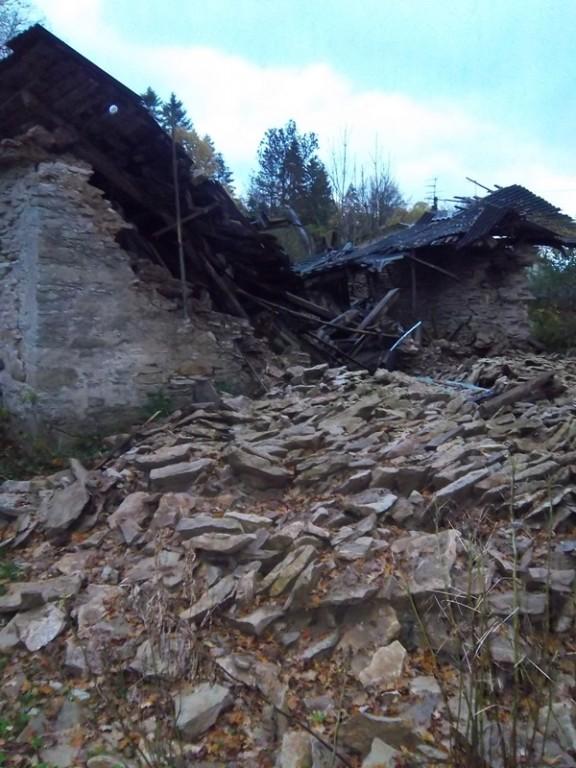 Seli mõisa kuuri lõunapoolse otsa vaade. K. Klandorf 16.10.2012