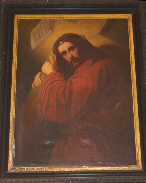 "Maal ""Kristus risti kandmas"". Hubert, 1863 (õli, lõuend). Foto: S.Simson 26.01.2005"