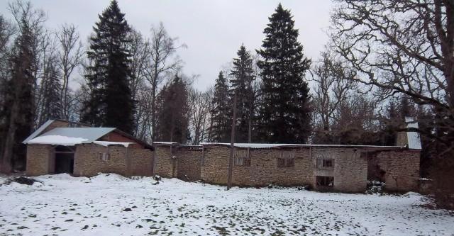 Vaimõisa mõisa ait-kuivati esikülg, vaade läänesuunast. K. Klandorf 1.11.2012