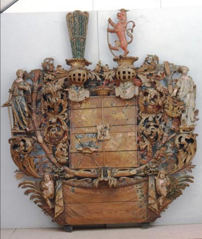 Üxküll-Güldenbandi vappepitaaf. Chr. Ackermann (?), 17. saj. lõpp (puit, polükroomia) Foto: Toomkiriku vapitöökoda 2008