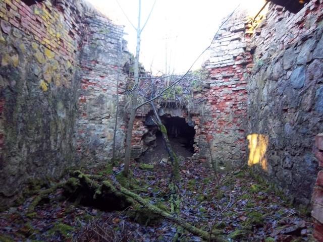 Hõreda mõisa jääkeldri sisevaade, keskne jääruum. K. Klandorf 13.11.2012