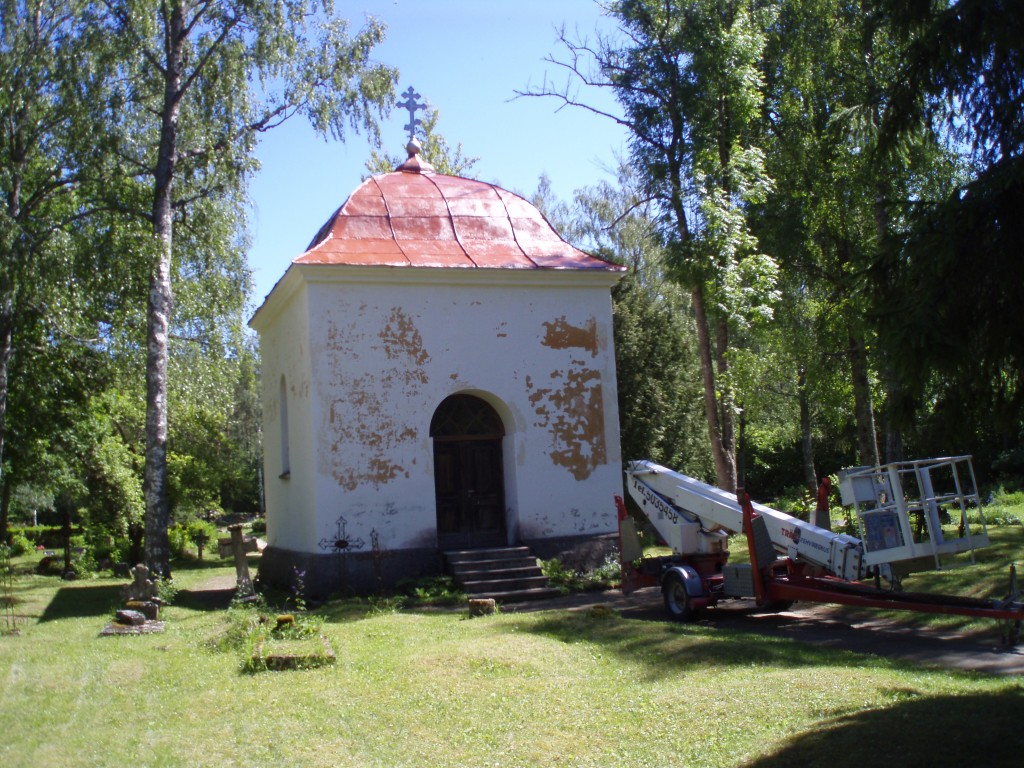Ööriku kalmistu kabel. 2012.a. konserveeritud kabeli katus. Foto: Ants Riim,  Kuupäev: sept.2012