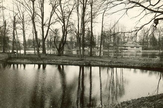 Asulakoht - lõunast. Foto: E. Väljal, 06.05.1985.