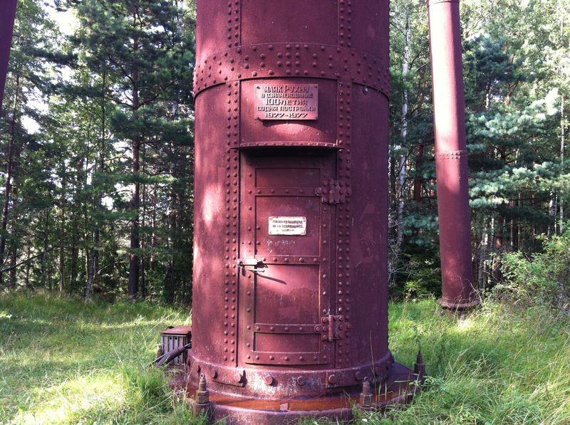 Ruhnu tuletornikompleks. Tuletorni uks. Foto: Algimantas Akmenskis, 1.08.2012