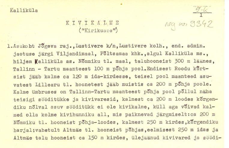 Pass 1  Autor K. Jaanits  Kuupäev 01.04.1975