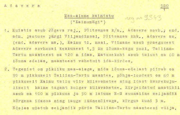 Pass 1  Autor K. Jaanits  Kuupäev 01.10.1974