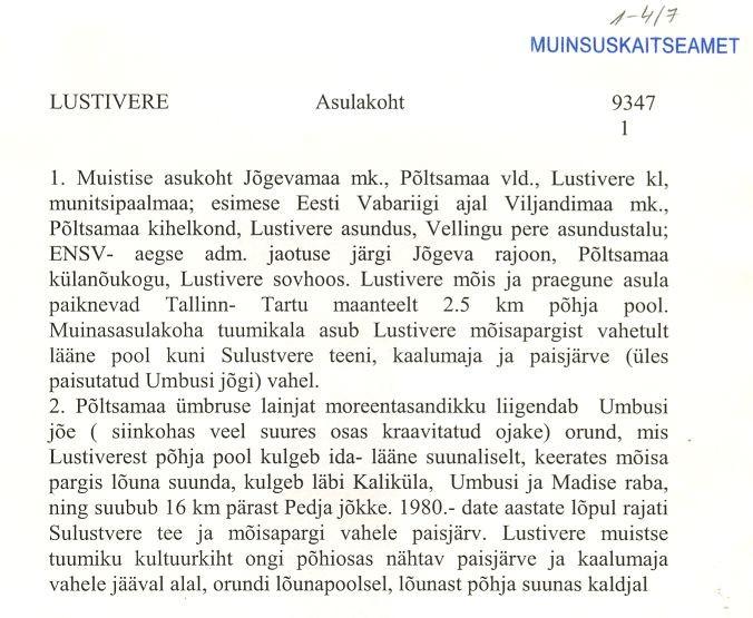 Pass 1  Autor A. Lavi  Kuupäev  01.10.2001