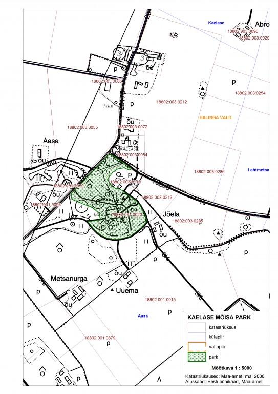 Pargi plaan Muinsuskaitseamet  2007