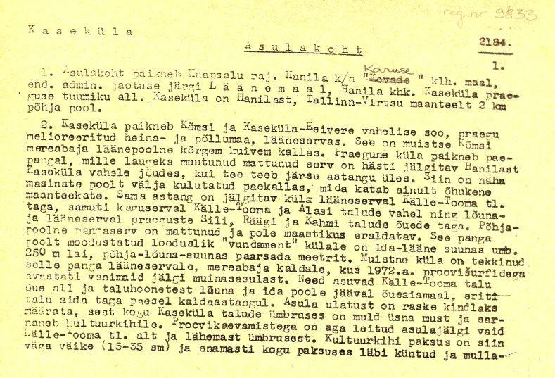 Pass 1  Autor V. Lõugas  Kuupäev 01.05.1973