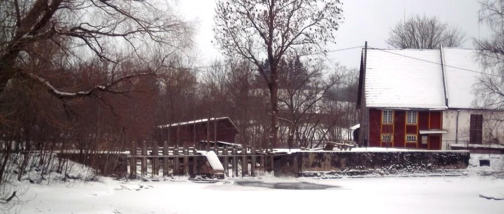 Kabala mõisa vesiveski tamm. Foto: K. Klandorf 28.01.2013