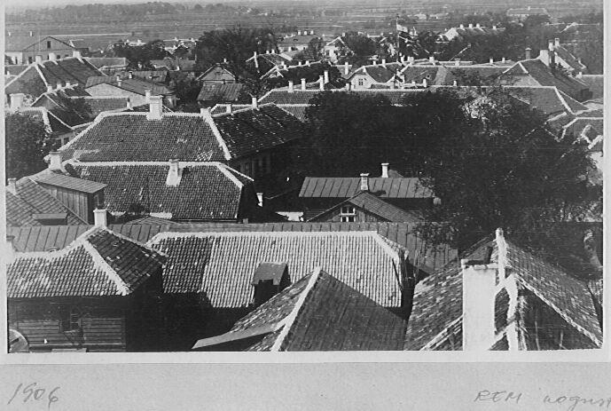 Kuressaare linkatused.  Foto: Saaremaa Muuseum. 20.sajandi I poole foto.