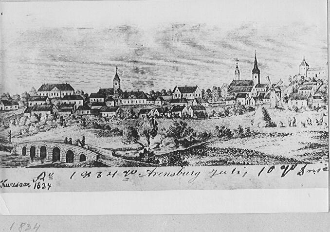Arensburg. Koopia. 1834.