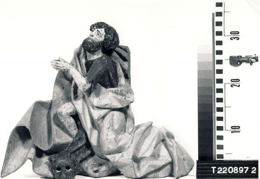 Altarisein. Lüübeki koolkond, 16. saj. I veerand (puit, polükroomia). Ristija Johannes. Altari pealisel paikneva niši figuur varastati 12. veebruaril 1999 Foto: Soile Ollila 1998