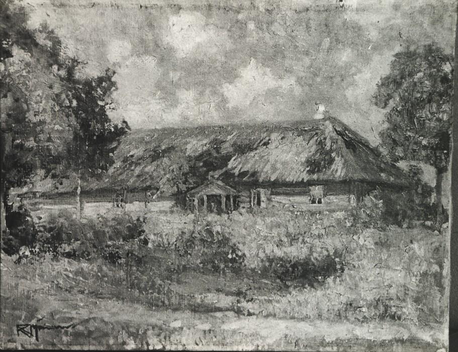 Maal «Vana talu», R. Nyman (õli, lõuend)