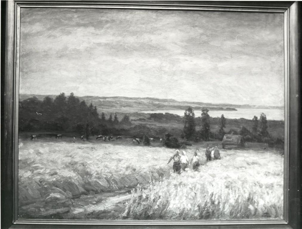 Maal «Naised põlluteel», V. Väli, 1965 (õli, lõuend)
